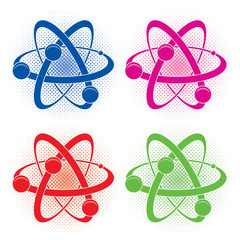 vector  abstract medical or chemistry symbol of atom