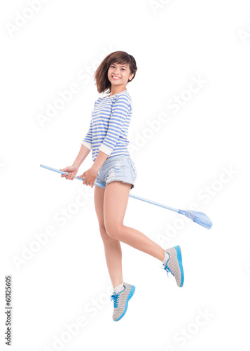 Riding a broom