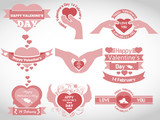 VALENTINE'S  DAY BADGES AND LABELS