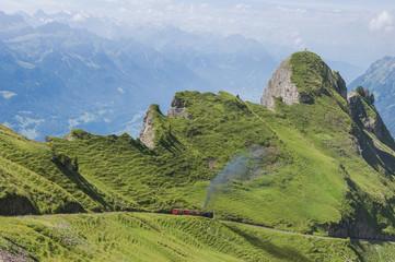 Brienz, Brienzersee, Rothorn, Schweizer Alpen, Dampflock