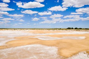 Salt desert near lake Eyre South (Australia)