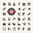 Web icon set - building, construction and home repair tools - 60128006