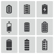 Vector black battery icons set - 60128491