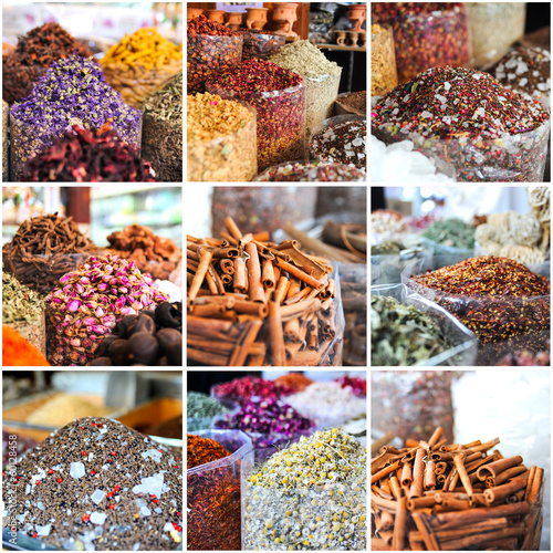 collage of photos taken on the spices market