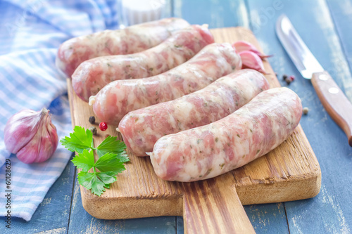 Raw sausages