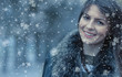 Portrait of a smile young woman in a winter