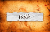 Faith title on piece of paper