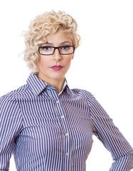 Blonde attractive  schoolteacher - teacherwearing