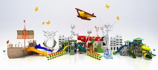 Parco Giochi, bambini, Divertimenti, Luna Park, Circo