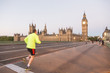 Runner in front of Big Ben at Dawn