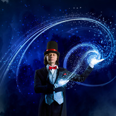 Magician in hat