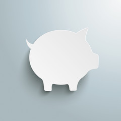 Big White Piggy Bank PiAd