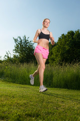 joggen in freier natur