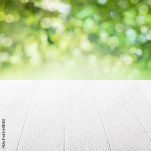 Empty table in a summer garden