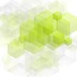 Bright green tech vector design