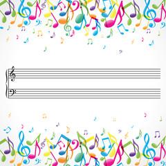 Musique avec portée centrale