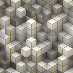 building structure from cubes. Abstract architecture backgrounds