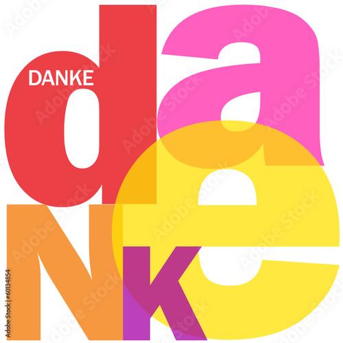"""""""DANKE"""" Karte (Vielen Dank Schön Sehr Dankbarkeit)"""