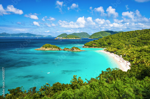 Fotobehang Caraïben Trunk Bay, St. John, United State Virgin Islands