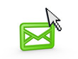 Cursor and icon of envelope.
