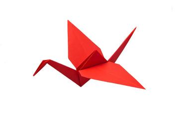 Red crane