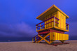 Life Guard Tower on Miami Beach at Twilight