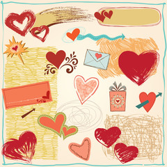 Hearts Design Elements