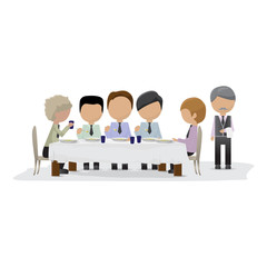 Business Peoples In The Restaurant - Isolated