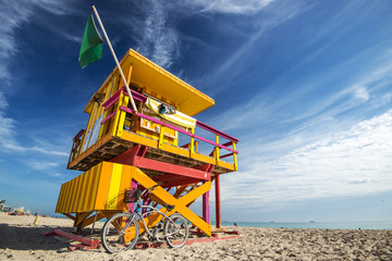 Life Guard Tower on Miami Beach