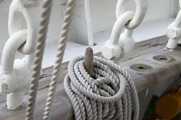帆船のロープ