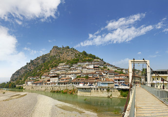 Historic city of Berat in Albania. WH Site by UNESCO