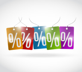 percentage colors tags illustration design