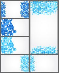 Seat of Abstract geometric backgrounds for card