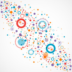 Abstract background with color circle and dotts
