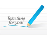take time for you message illustration design
