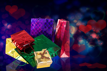 Gift Boxes.Valentines Day.Holiday Card