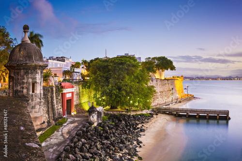 Foto op Canvas Caraïben San Juan, Puerto Rico at Paseo De La Princesa