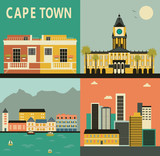 Cape town city. Vector