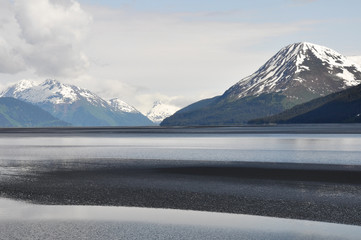Low tide at Turnagain Arm, Alaska