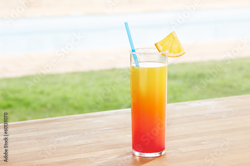 San Francisco cocktail by a pool outdoors