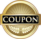 Coupon Gold Vintage Label