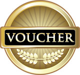 Voucher Gold Vintage Label