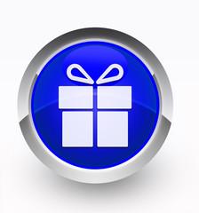 Knopf blau Geschenk