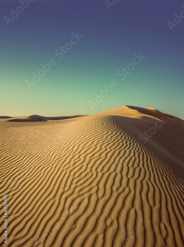 evening desert - vintage retro style
