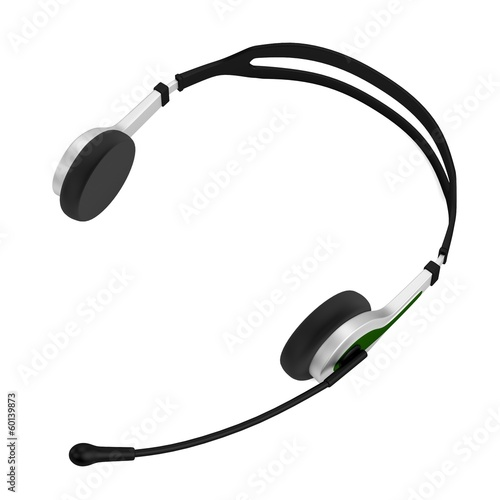 realistic 3d render of headphones