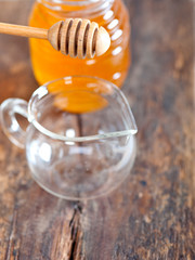 natural honey with a clean dipper