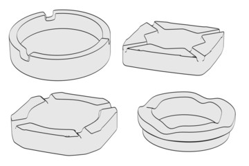 cartoon image of empty ashtrays