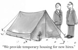 We provide temporary housing for new hires poster