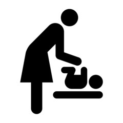 Baby care room symbol, mother room symbol