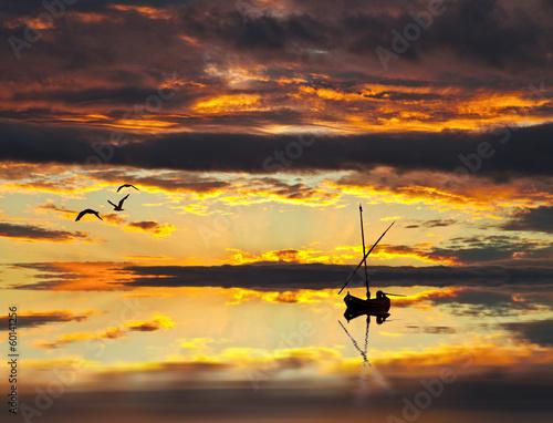 barco entre las nubes